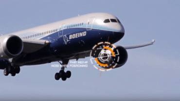 nose wheel positioning for boeing aircraft